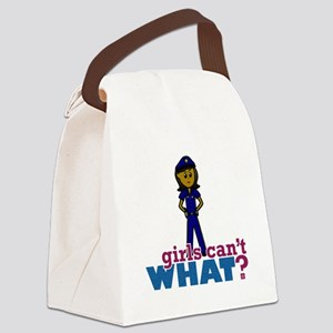 Woman Police Officer Canvas Lunch Bag