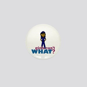 Woman Police Officer Mini Button