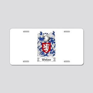 Wallace I Aluminum License Plate