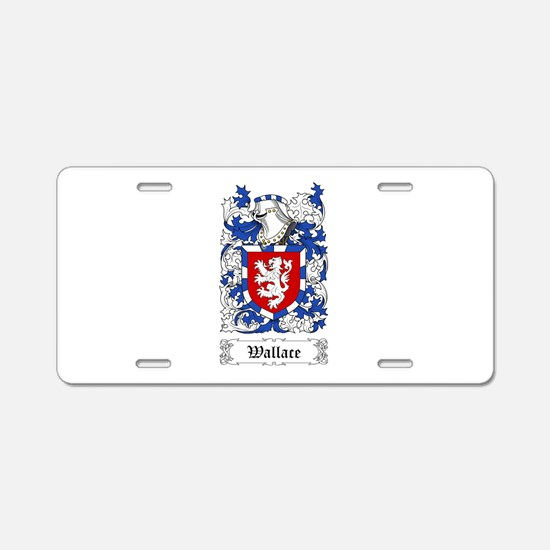 Wallace I Aluminum License Plate