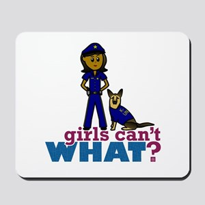 K-9 Police Woman Mousepad