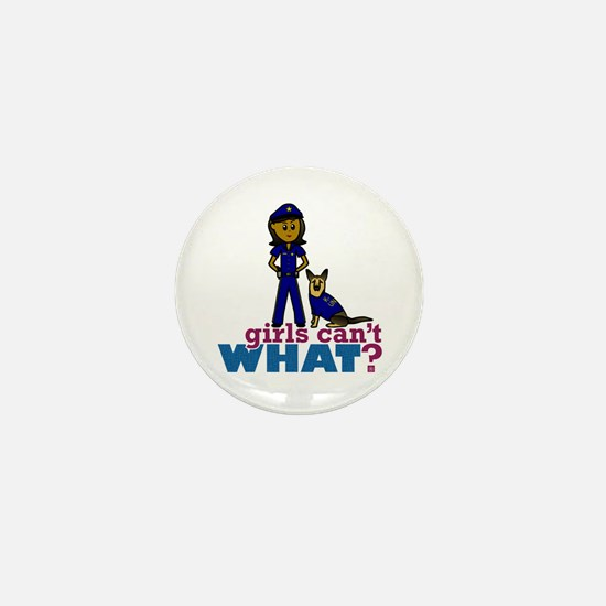 K-9 Police Woman Mini Button