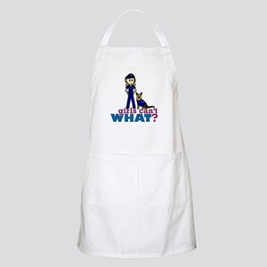 Woman K-9 Police Officer Apron