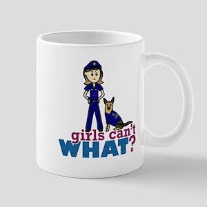Woman K-9 Police Officer Mug
