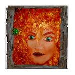 RedCelticWoodSprite_cafeZZ-framed Tile Coaster
