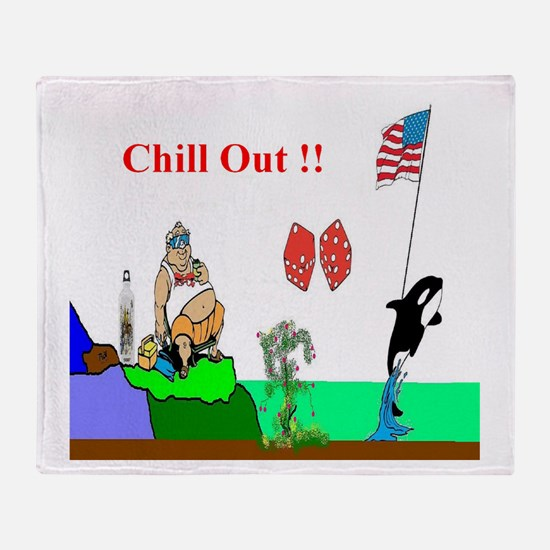 Chill Out Fun Art Throw Blanket