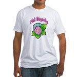 Pink Magnolia Fitted T-Shirt