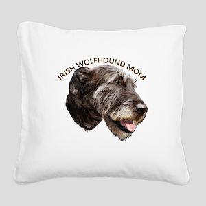 irish wolfhound Square Canvas Pillow