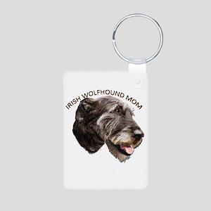 irish wolfhound Aluminum Photo Keychain