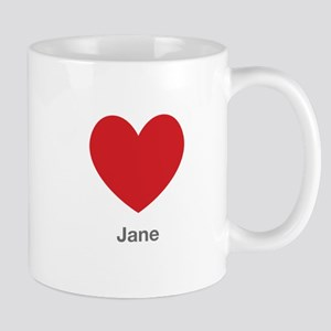 Jane Big Heart Mug