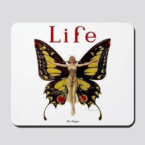 Vintage Life Flapper Butterfly 1922 Mousepad
