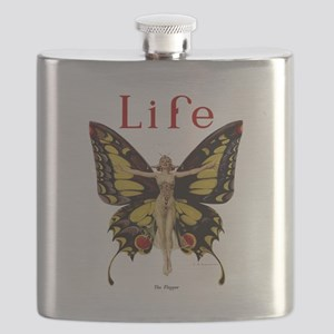 Vintage Life Flapper Butterfly 1922 Flask