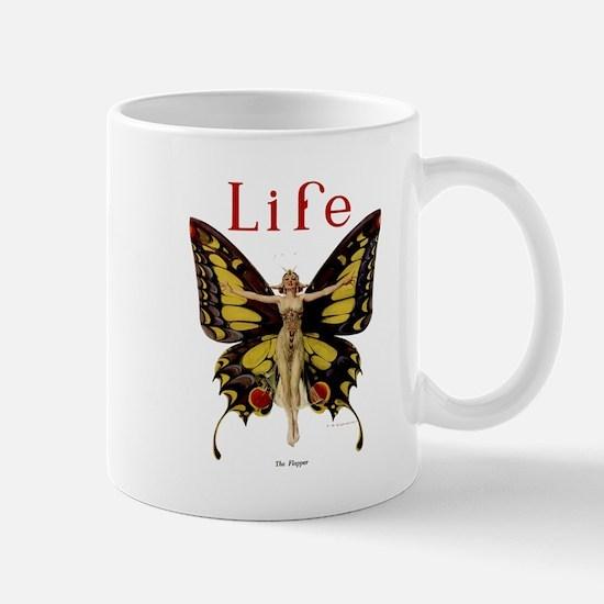Vintage Life Flapper Butterfly 1922 Mug