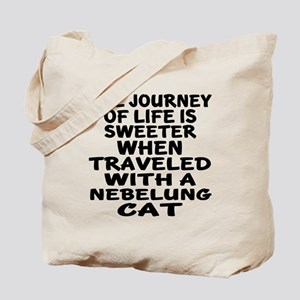 Traveled With nebelung Cat Tote Bag