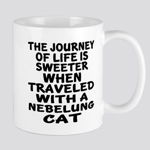 Traveled With nebelung Cat 11 oz Ceramic Mug