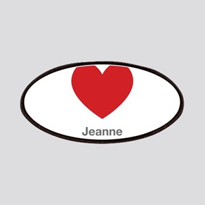 Jeanne Big Heart Patches