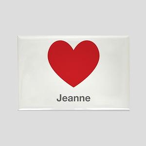 Jeanne Big Heart Rectangle Magnet