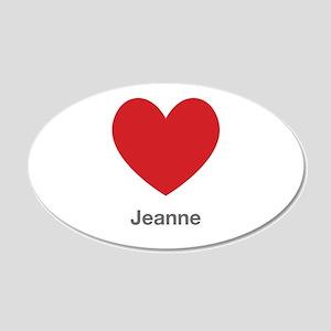 Jeanne Big Heart Wall Decal