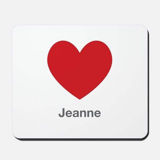 Jeanne Big Heart Mousepad