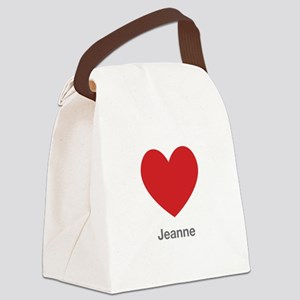 Jeanne Big Heart Canvas Lunch Bag