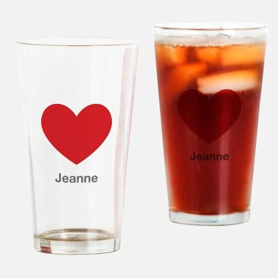 Jeanne Big Heart Drinking Glass
