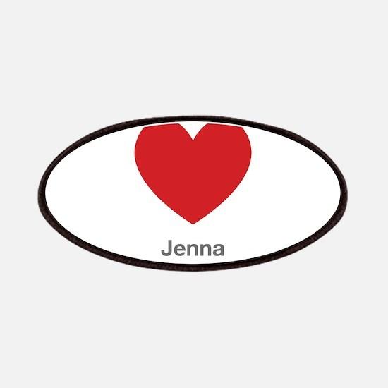 Jenna Big Heart Patches