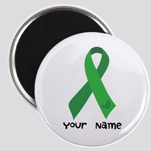 Personalized Green Ribbon (heart) Magnet