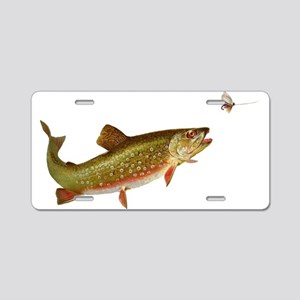 Vintage trout fishing illustration Aluminum Licens