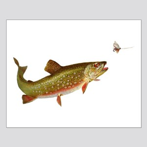 Vintage trout fishing illustration Posters