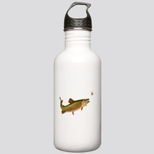 Vintage trout fishing illustration Water Bottle
