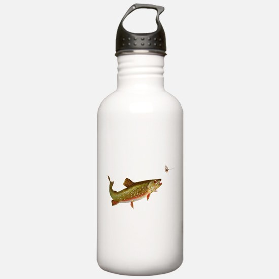 Vintage trout fishing illustration Water Bottle