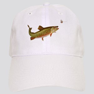 Vintage trout fishing illustration Baseball Cap