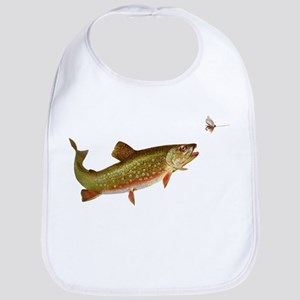 Vintage trout fishing illustration Bib