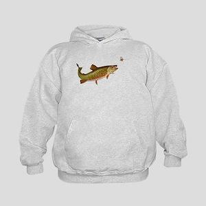 Vintage trout fishing illustration Hoodie