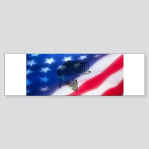 Bass America Bumper Sticker