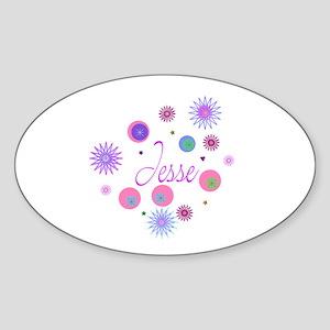 JESSE Oval Sticker
