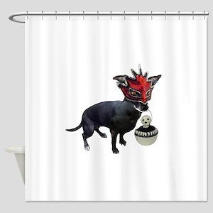 Dog in Mask Shower Curtain