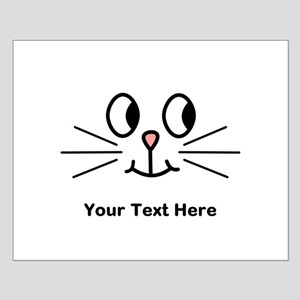 Cute Cat Face, Black Text. Posters
