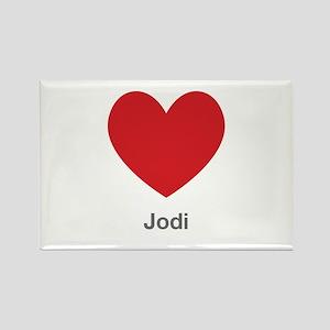 Jodi Big Heart Rectangle Magnet