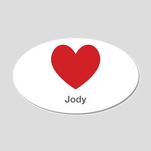Jody Big Heart Wall Decal