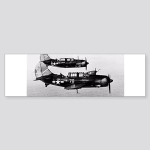 WWII fighters Bumper Sticker