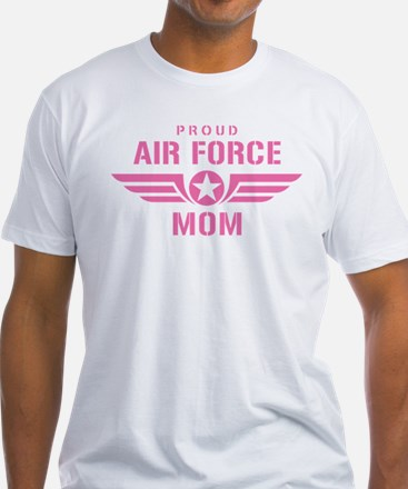 Proud Air Force Mom W [pink] Shirt