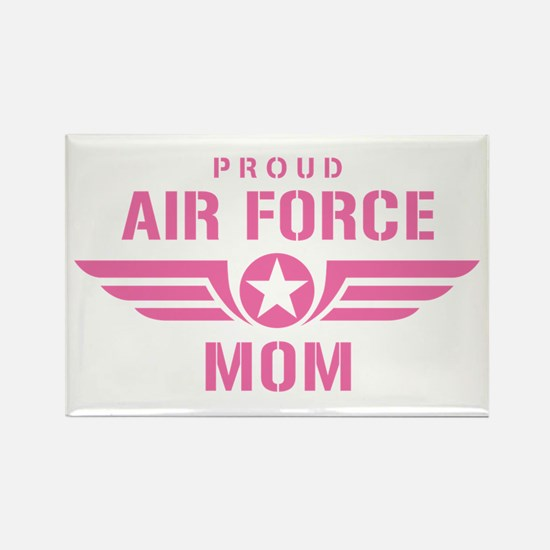 Proud Air Force Mom W [pink] Rectangle Magnet