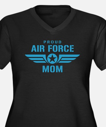 Proud Air Force Mom W Women's Plus Size V-Neck Dar