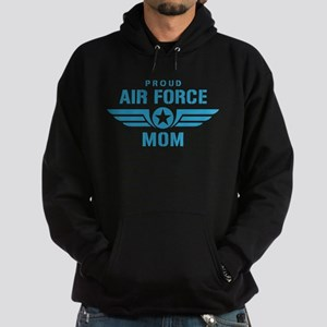 Proud Air Force Mom W Hoodie (dark)