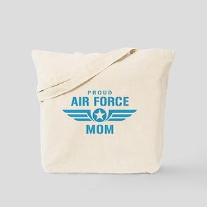 Proud Air Force Mom W Tote Bag