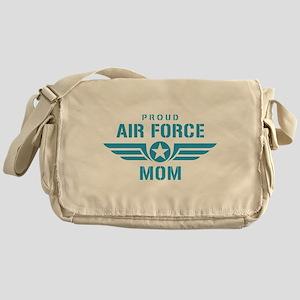 Proud Air Force Mom W Messenger Bag