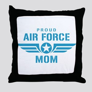 Proud Air Force Mom W Throw Pillow