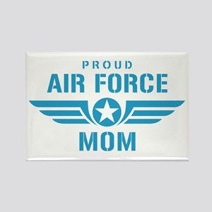 Proud Air Force Mom W Rectangle Magnet