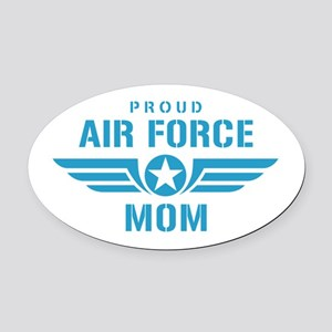 Proud Air Force Mom W Oval Car Magnet